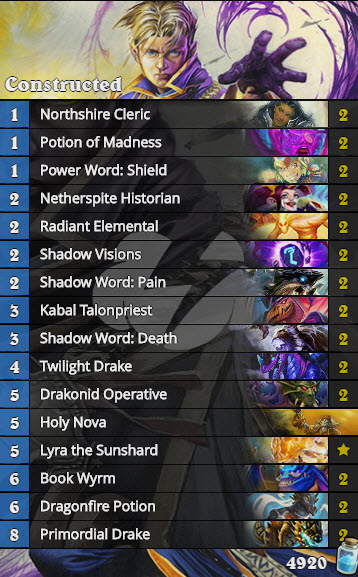 Dragon Priest Tier 2 Tempostorm Meta Snapshot 27 Deck List - Conclusions