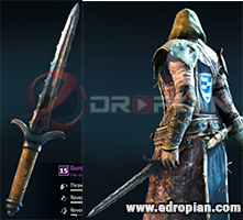 Guron-Dagger-Heroic-Weapon-Set-For-Peacekeeper-in-For-Honor