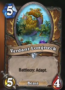 Hearthstone New Expansion Journey to Un'Goro New Adapt Mechanic Card Example