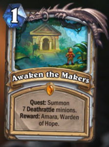 Hearthstone New Expansion Journey to Un'Goro New Priest Legendary Quest Card Aweken The Makers