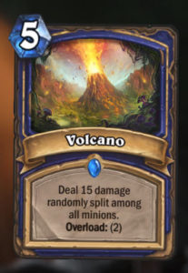Hearthstone New Expansion Journey to Un'Goro New Shaman Card Volcano