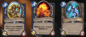 Hearthstone New Expansion Journey to Un'Goro New minion family Elemental Cards