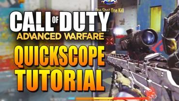 Call Of Duty Advanced Warfare Quickscope Tutorial! Hell Yeah!