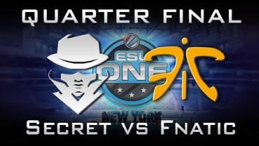 Dota 2 Quarter Final Secret vs Fanatic New York 2015 Highlights