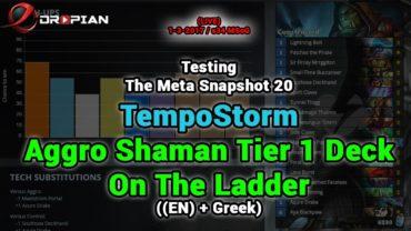 Testing Aggro Shaman Tier 1 Deck Of TempoStorm Snapshot 20 – s34 MSoG