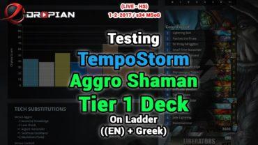 Testing TempoStorm Aggro Shaman s34 Tier 1 Deck – Meta Snapshot 19